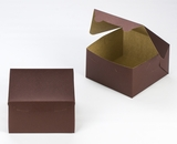 "3584 - 7"" x 7"" x 4"" Chocolate/Brown without Window, Lock & Tab Box With Lid. A16"