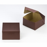 "3584 - 7"" x 7"" x 4"" Chocolate/Brown Lock & Tab Box without Window"