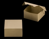 "3590 - 7"" x 7"" x 4"" Brown/Brown Lock & Tab Box without Window"
