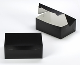 "3593 - 10"" x 7"" x 4"" Black/White Lock & Tab Box without Window"