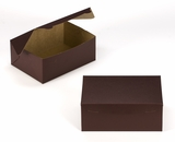 "3595 - 10"" x 7"" x 4"" Chocolate Brown/Brown without Window, Lock & Tab Box With Lid. A20"