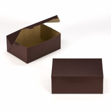 "3595 - 10"" x 7"" x 4"" Chocolate/Brown Lock & Tab Box without Window"