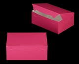"3598 - 10"" x 7"" x 4"" Pink/White without Window, Lock & Tab Box With Lid. A23"