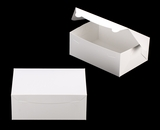 "3602 - 10"" x 7"" x 4"" White/White without Window, Lock & Tab Box With Lid. A23"