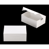 "3602 - 10"" x 7"" x 4"" White/White Lock & Tab Box without Window"