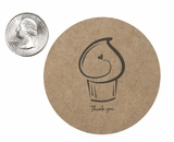 """3608 - 2 1/2"""" Thank You Cupcake Favor Label, 50 Count. F01"""