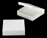 "3609 - 10"" x 10"" x 2 1/2"" White/White without Window, Lock & Tab Box With Lid. A24"