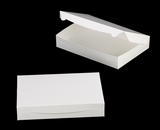 "3610 - 14"" x 10"" x 2 1/2"" White/White without Window, Lock & Tab Box With Lid. A29"