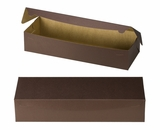 "3612 - 20"" x 7"" x 4"" Chocolate/Brown without Window, One Piece Lock & Tab Box With Lid. A33"