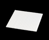 "3651 - 5 7/8"" x 5 7/8"" Candy Pad, White with White Core, 3-Ply Glassine Candy Box Liner. B02"