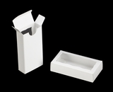 "3655 - 4 5/16"" x 2 1/4"" x 1"" White/White Double Favor Box with Window"