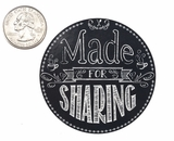 "3656 - 2 1/2"" Made For Sharing, Chalkboard Favor Label, 50 Count. F01"