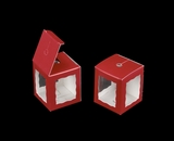 "3665 - 1 3/4"" x 1 3/4"" x 2"" Red/White Single Cake Pop Box. B02"