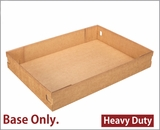 "3690 - 26"" x 18"" x 4"" Brown/Brown Lock & Tab Corrugated Base Only, 25 COUNT. A24"