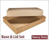 "3690x3705 - 26"" x 18"" x 4"" Brown/Brown Lock & Tab Corrugated Base, Paperboard Lid without Window Set, 25 COUNT. A24xA16"