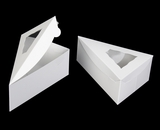 "3699 - 6 3/8"" x 4 1/4"" x 2 1/2"" White/White Pie Slice Box with Window. B05"