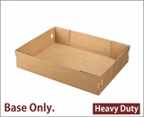 "3703 - 19"" x 14"" x 4"" Brown/Brown Lock & Tab Corrugated Base Only, 50 COUNT"