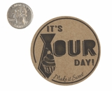 "3716 - 2 1/2"" Father's Day Favor Label on kraft, 50 Count"