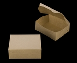 "3723 - 7"" x 5 1/2"" x 2 1/2"" Brown/Brown without Window, Lock & Tab Box With Lid. A09"