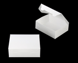 "3724 - 7"" x 5 1/2"" x 2 1/2"" White/White Lock & Tab Box without Window"
