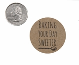 "3744 - 1 1/2"" Baking Your Day Sweeter Favor Label, 50 Count. F01"