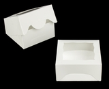 "3788 - 5"" x 5"" x 2 1/2"" White/White with Window, Timesaver Box with Lid. A09"
