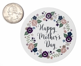 "3798 - 2 1/2"" Mother's Day Flowers Favor Label, 50 Count. F01"