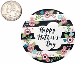 "3799 - 2 1/2"" Mother's Day Flowers/Stripes Favor Label, 50 Count. F01"