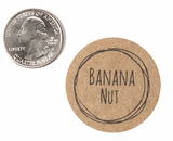"3801 - 1 1/2"" Banana Nut Flavor Label, 50 Count. F01"