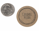 "3806 - 1 1/2"" Caramel Pecan Flavor Label, 50 Count"