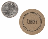 "3808 - 1 1/2"" Cherry Flavor Label, 50 Count. F01"