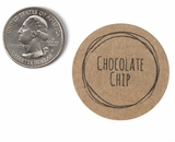 "3809 - 1 1/2"" Chocolate Chip Flavor Label, 50 Count. F01"