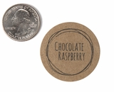 "3811 - 1 1/2"" Chocolate Raspberry Flavor Label, 50 Count. F01"