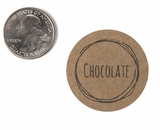 "3812 - 1 1/2"" Chocolate Flavor Label, 50 Count. F01"