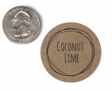 "3813 - 1 1/2"" Coconut Lime Flavor Label, 50 Count. F01"