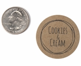 "3815 - 1 1/2"" Cookies and Cream Flavor Label"