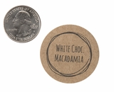 "3820 - 1 1/2"" White Chocolate Macadamia Flavor Label, 50 Count. F01"