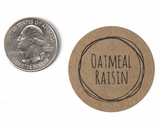 "3823 - 1 1/2"" Oatmeal Raisin Flavor Label"