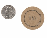 "3824 - 1 1/2"" Peach Flavor Label"