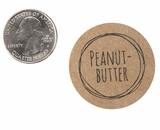 "3825 - 1 1/2"" Peanut Butter Flavor Label, 50 Count. F01"