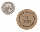 "3826 - 1 1/2"" Pina Colada Flavor Label, 50 Count. F01"