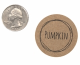 "3827 - 1 1/2"" Pumpkin Flavor Label, 50 Count. F01"