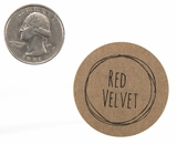 "3828 - 1 1/2"" Red Velvet Flavor Label"