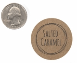 "3830 - 1 1/2"" Salted Caramel Flavor Label, 50 Count. F01"
