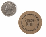 "3832 - 1 1/2"" Snickerdoodle Flavor Label"