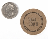 "3835 - 1 1/2"" Sugar Cookie Flavor Label, 50 Count. F01"