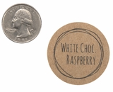 "3837 - 1 1/2"" White Chocolate Raspberry Flavor Label, 50 Count. F01"
