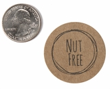 "3853 - 1 1/2"" Nut Free Flavor Label, 50 Count"