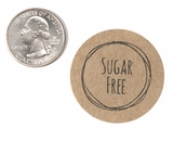 "3854 - 1 1/2"" Sugar Free Flavor Label, 50 Count. F01"