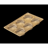 "3857 - 9 1/2"" x 6"" x 15/16"" Gold 6 Cavity, Candy Tray"